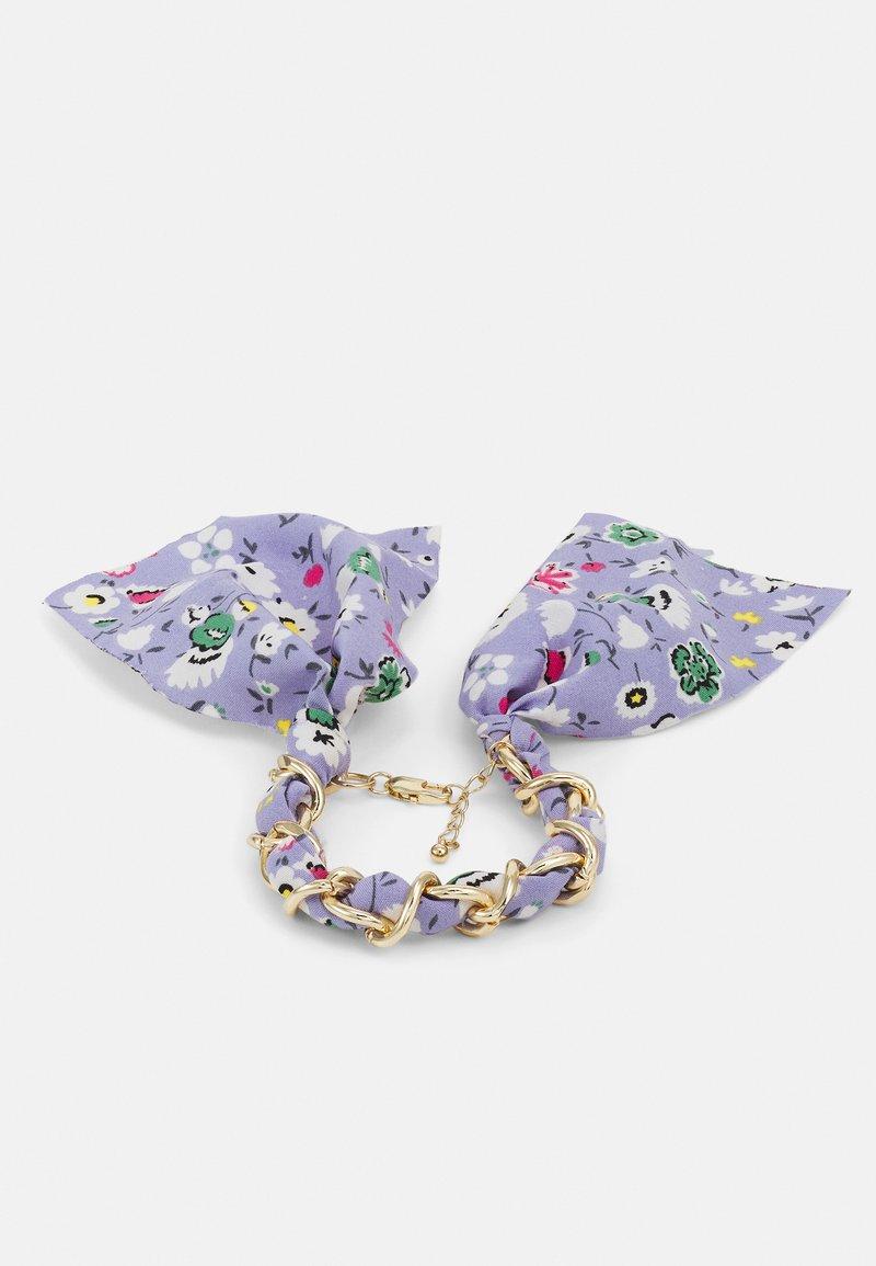 Pieces - PCROSA THREADED BRACELET - Bracelet - gold-coloured /purple