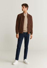 Mango - UBBE - Leather jacket - chocolat - 1