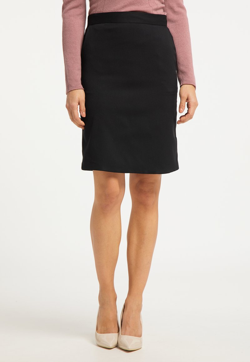 usha - Pencil skirt - schwarz