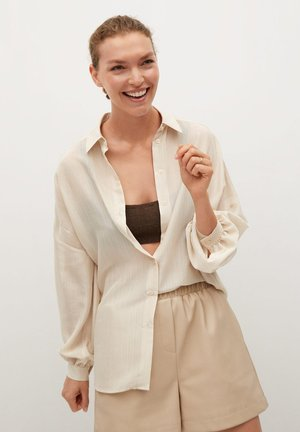 LINER - Button-down blouse - beige