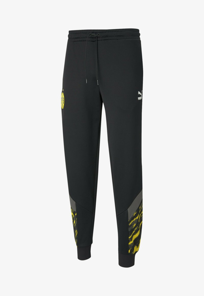Puma - Tracksuit bottoms -  black cyber yellow