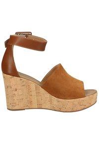 NeroGiardini - Wedge sandals - tabacco - 6
