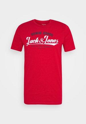 JJELOGO TEE - Print T-shirt - tango red