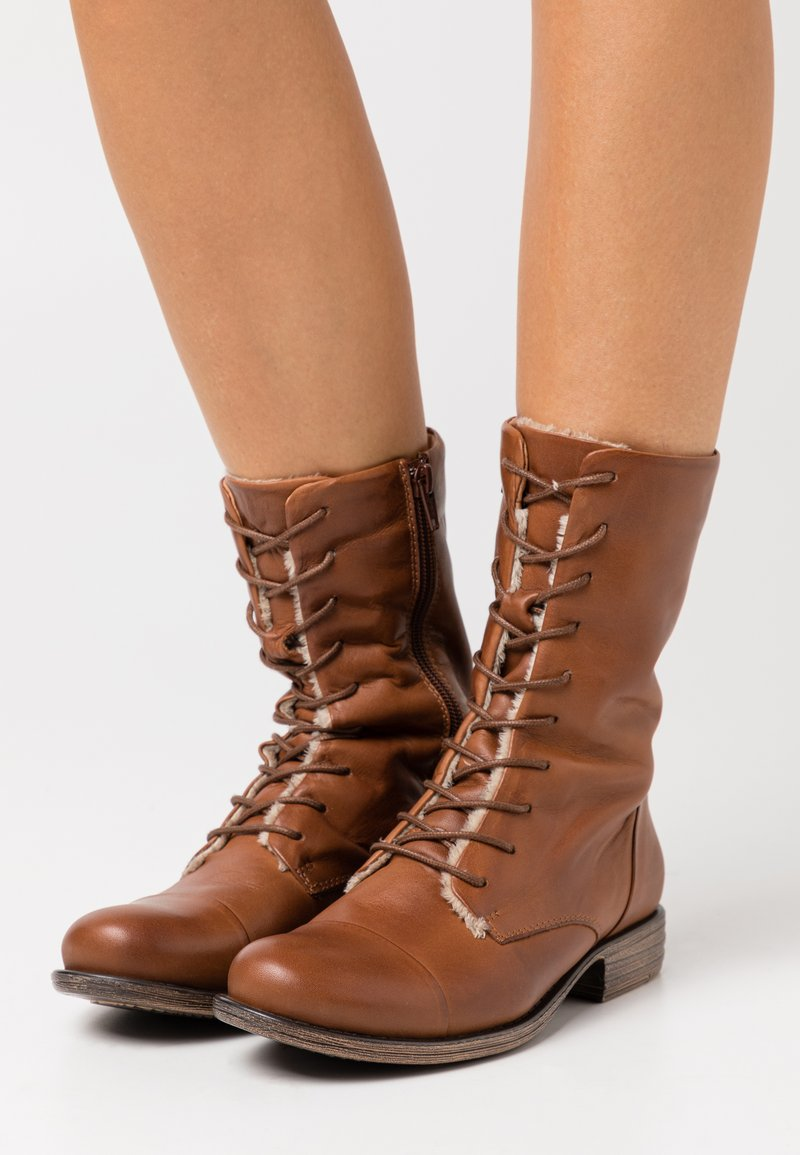 Anna Field - LEATHER - Lace-up boots - cognac