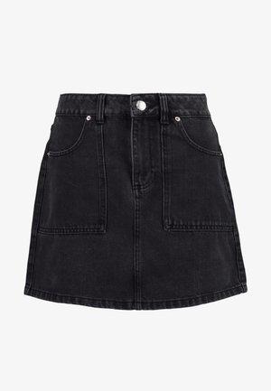 CARGO POCKET SKIRT - A-line skirt - black