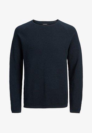JJEHILL - Stickad tröja - navy blazer