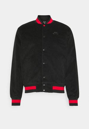 CORD SKATE UNISEX - Bomber bunda - black/university red