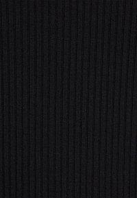 NA-KD - SQUARE NECK SLIT TOP - Long sleeved top - black - 2