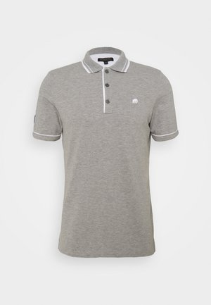 TIPPED - Polo - heather grey