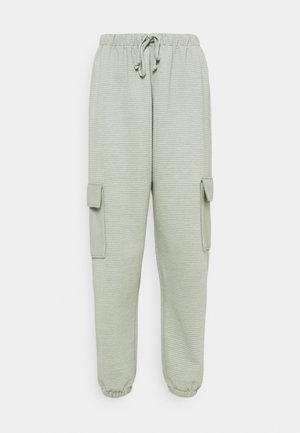JOGGER UTILITY POCKET - Tracksuit bottoms - sage