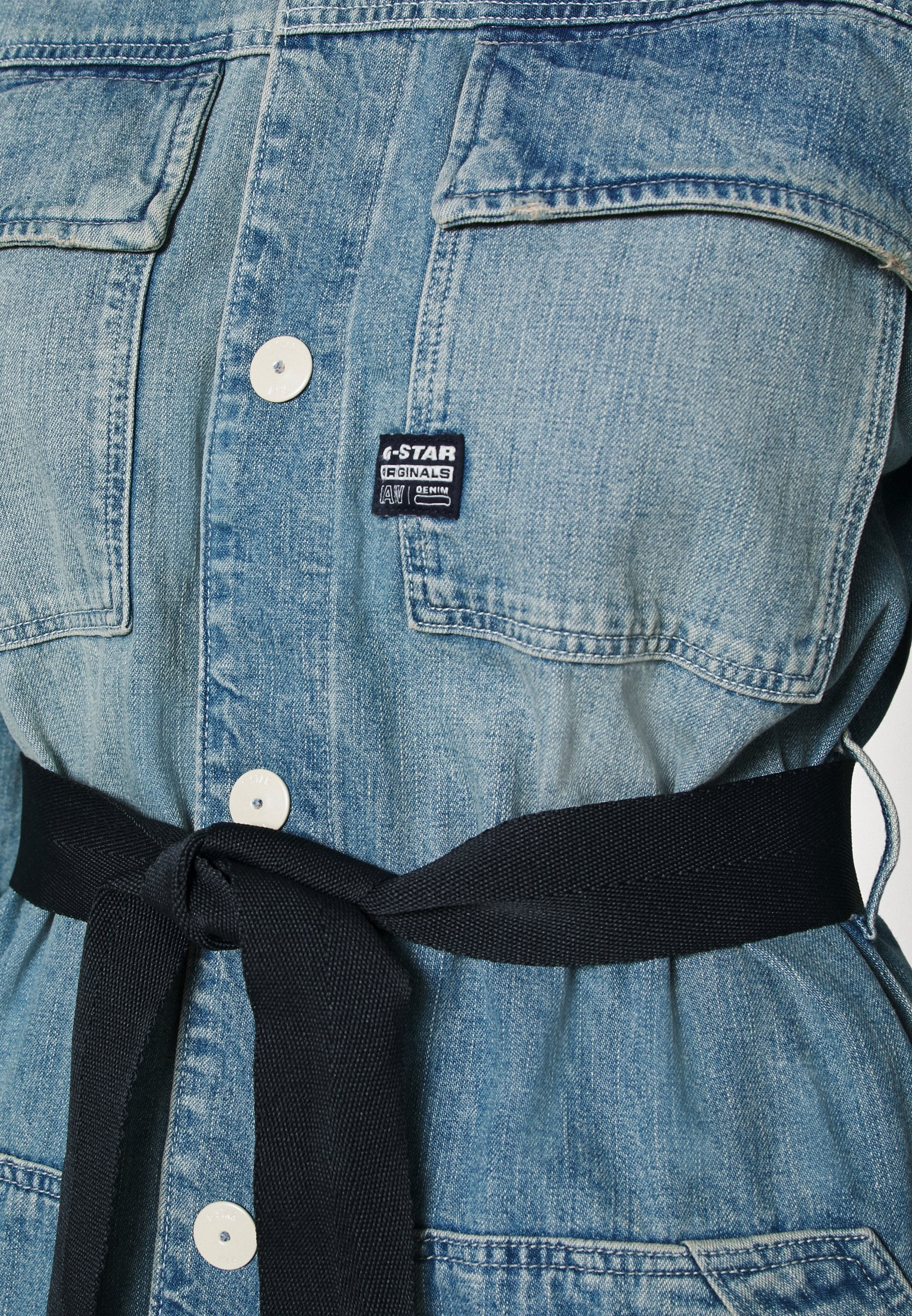 GStar SHIRT DRESS Jeanskleid vintage marine blue/bleached denim