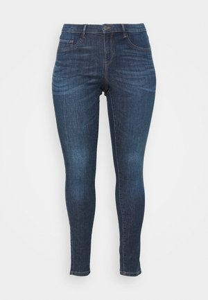 CARFLORIA LIFE SKINNY - Jeans Skinny Fit - dark blue denim