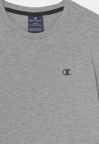 Champion - BASICS CREW NECK 2 PACK - T-shirt basic - mottled grey/black - 3