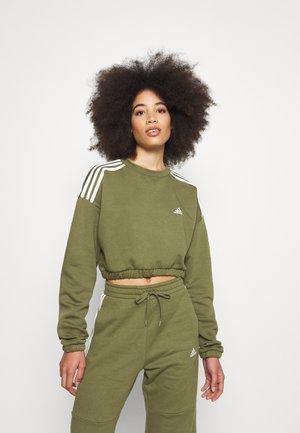CROP CREW - Sweatshirt - focus olive