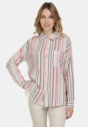 HEMDBLUSE - Button-down blouse - rot gestreift