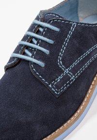 Friboo - LEATHER - Šněrovací boty - dark blue - 5