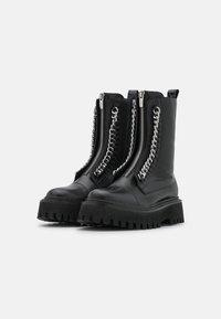 Copenhagen Shoes - ROCK & ROLL - Platåstøvletter - black - 2