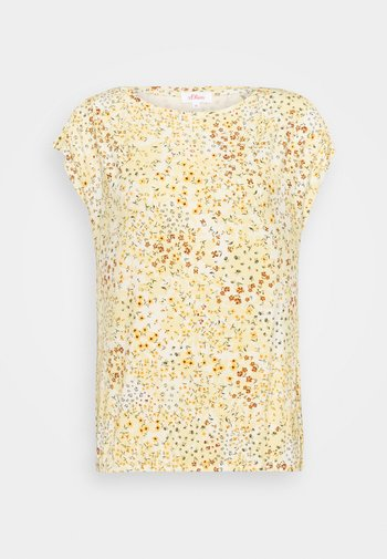 T-shirt med print - sunlight yellow