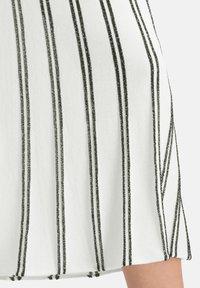 Nicowa - MINOWA - A-line skirt - white/black - 3