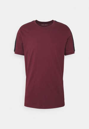 LOUNGE TEE - Pyžamový top - bordeaux/dark blue