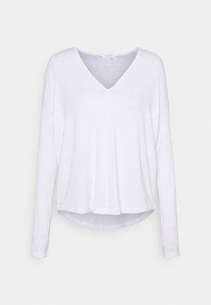 THE VEE - Top sdlouhým rukávem - white