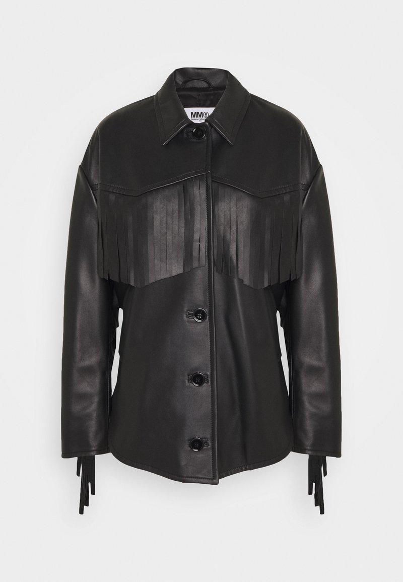 MM6 Maison Margiela - Veste en cuir - black