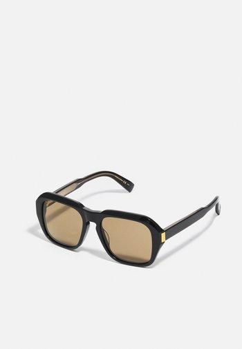 UNISEX - Lunettes de soleil - black/black/brown