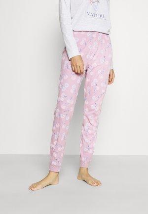 FLOWER PANTS - Pantaloni del pigiama - pink