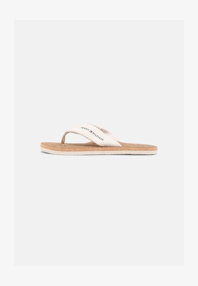 BEACH - T-bar sandals - ivory
