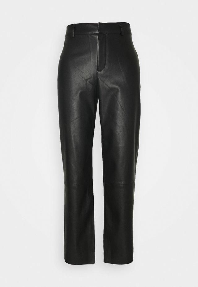 TROUSERS LEAH  - Spodnie materiałowe - black