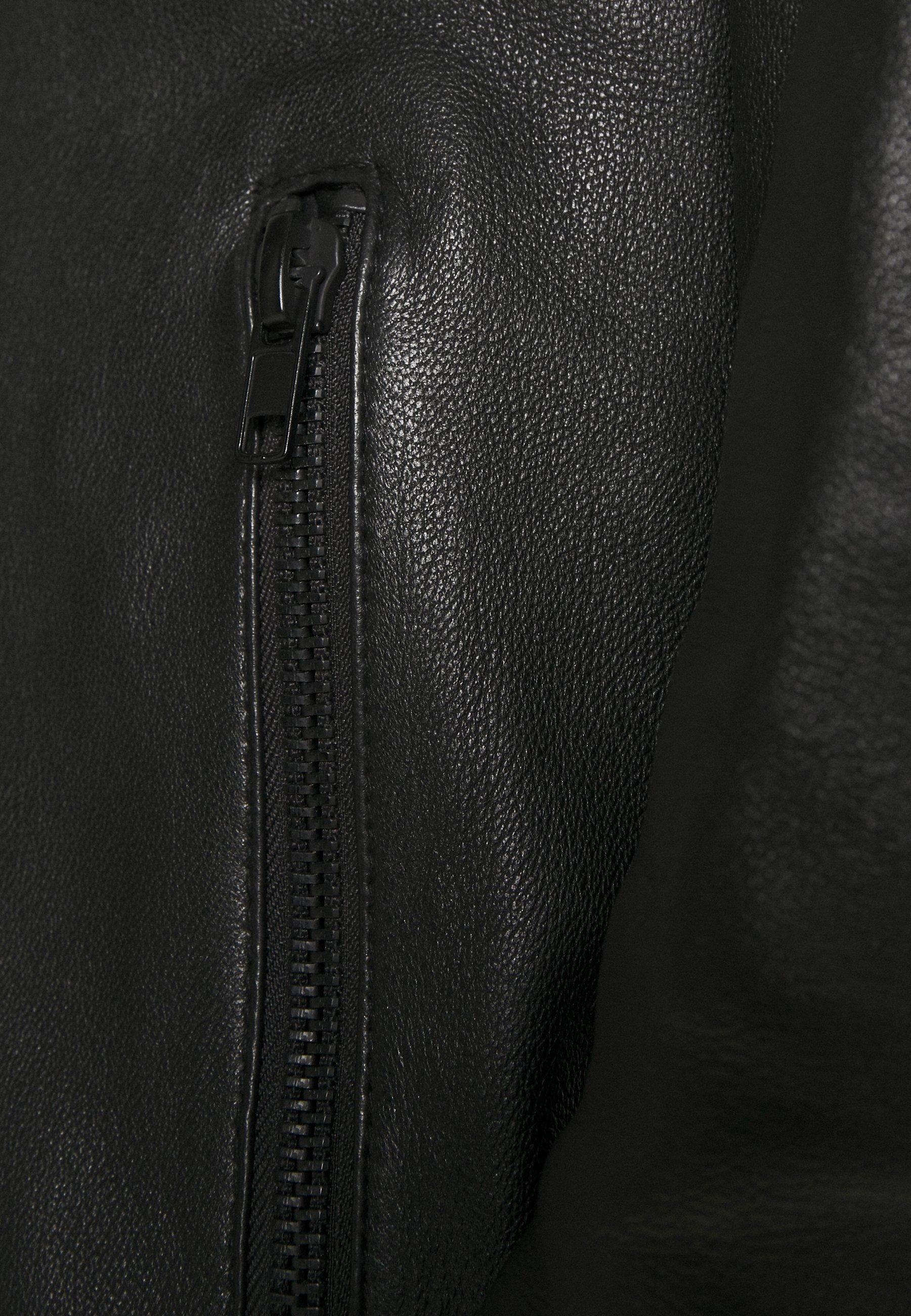 Men RANDOM COLLAR - Leather jacket