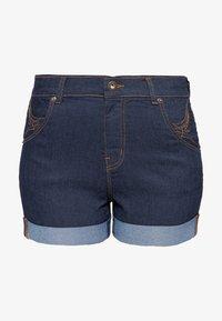 Queen Kerosin - Denim shorts - dunkelblau - 0