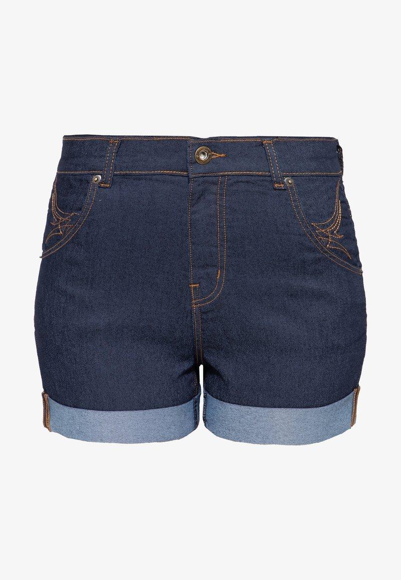 Queen Kerosin - Denim shorts - dunkelblau