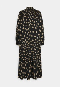 Glamorous - MODESTY SMOCKED HIGHNECK MAXI DRESSES WITH LONG SLEEVES - Maxi dress - black/sand - 6