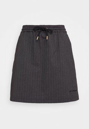 TRACK SKIRT - Spódnica trapezowa - grey