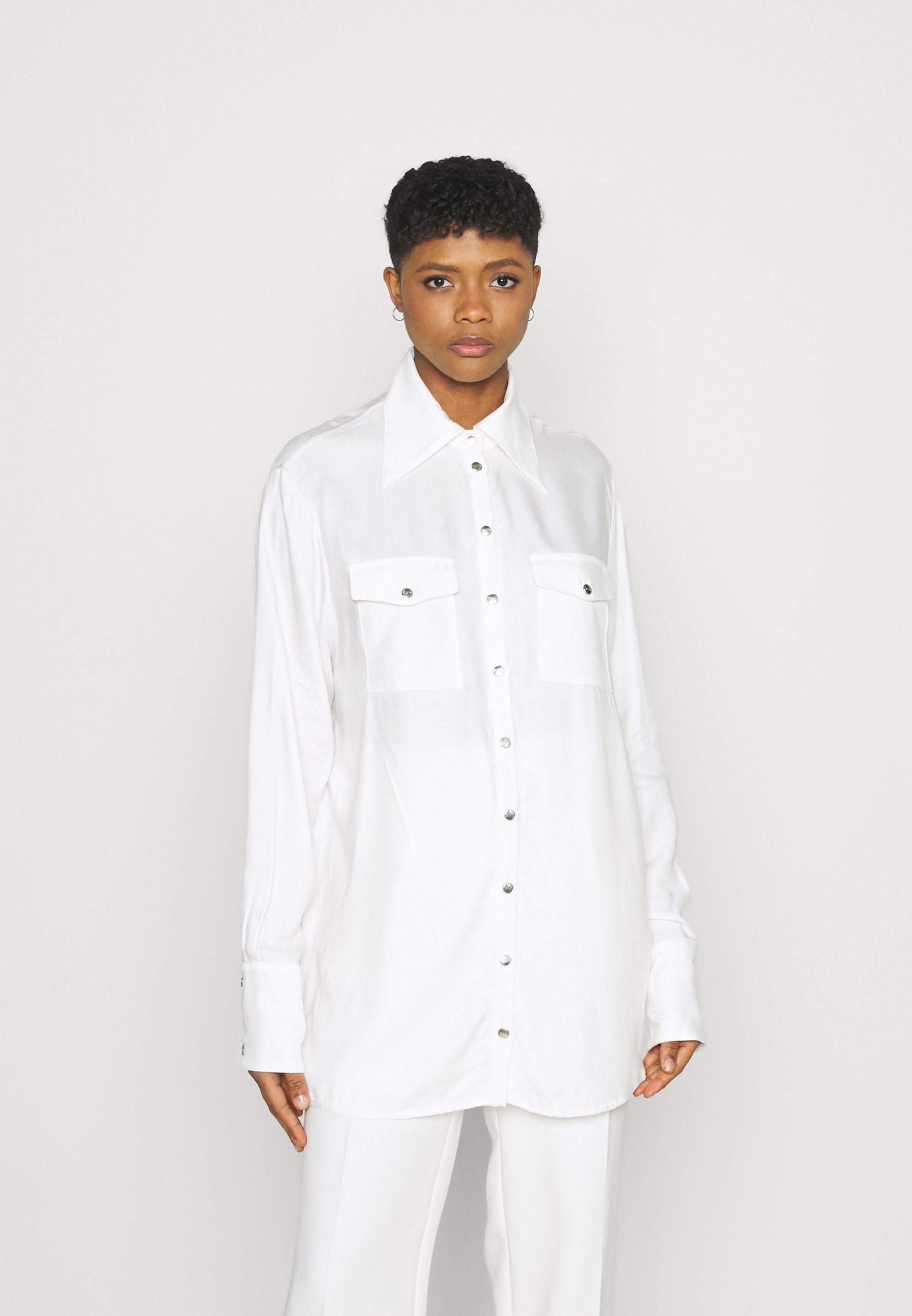 Women OVERSIZED SHIRT - Button-down blouse