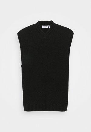 COHEN V-NECK VEST - Jumper - black