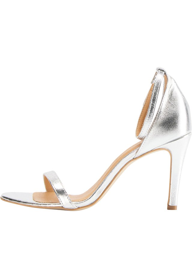 HIGH-HEEL-SANDALETTE - High heeled sandals - silber