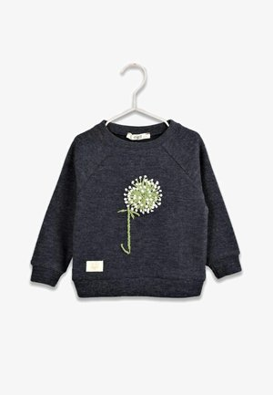 FLORAL EMBROIDERED  - Sweatshirt - navy blue