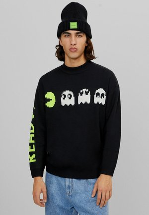 PACMAN GLOW IN THE DARK - Pullover - black
