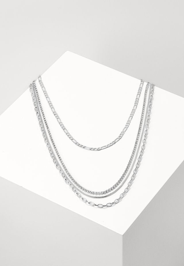 LAYERING NECKLACE VALERIA - Naszyjnik - silver-coloured