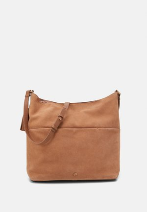 LEATHER - Across body bag - tan