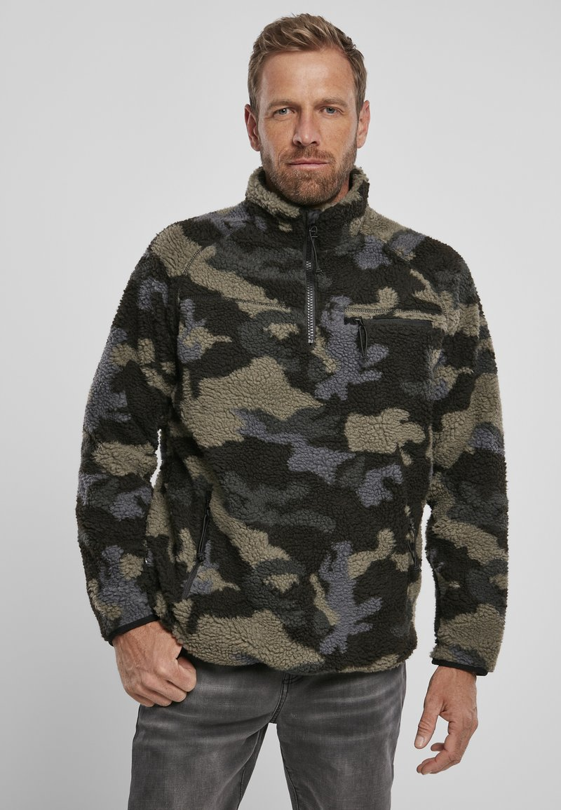 Brandit - Fleece jumper - darkcamo
