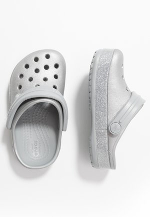 CROCBAND GLITTER RELAXED FIT - Pool slides - silver