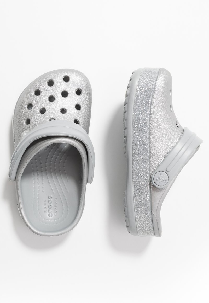 Crocs - CROCBAND GLITTER RELAXED FIT - Pool slides - silver