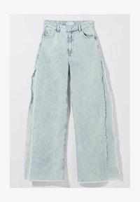 Bershka - WIDE LEG - Flared Jeans - light blue - 5
