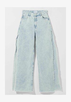 WIDE LEG - Flared Jeans - light blue