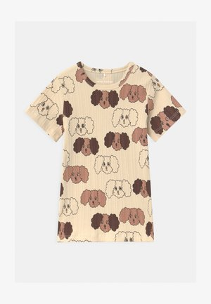FLUFFY DOG UNISEX - Print T-shirt - beige
