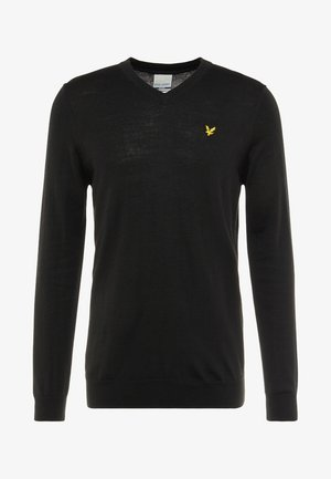 GOLF V NECK - Jumper - true black