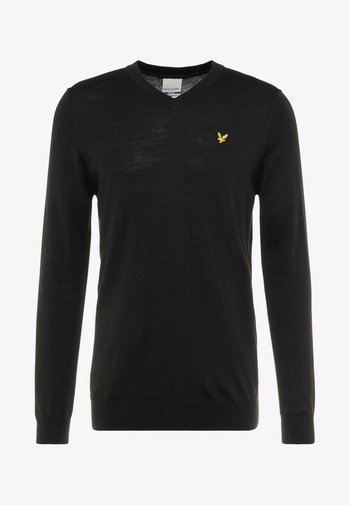 GOLF V NECK - Jersey de punto - true black